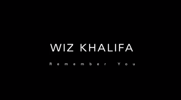 Wiz Khalifa - -Remember You- Ft. The Weeknd (Official Music Video) - via YouTube screen cap