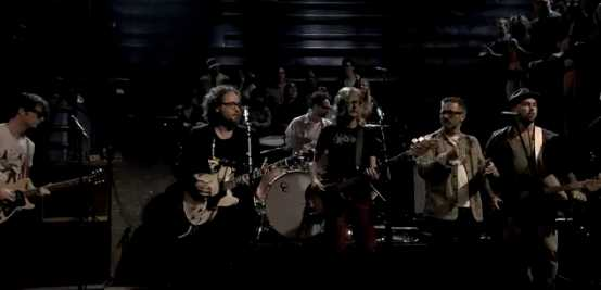 Broken Social Scene on Live with Jimmy Kimmel - screen cap