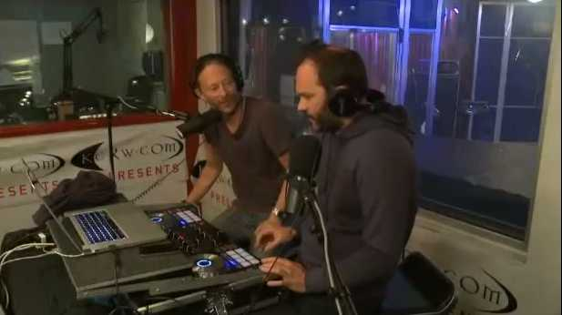 Thom Yorke & Nigel Godrich - Honey Pot on Radio Friday, 6 June 2013 - YouTube screen cap