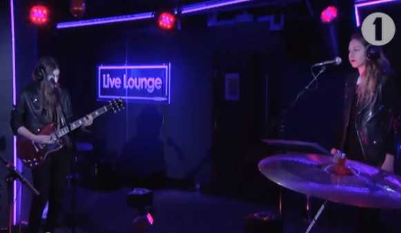 HAIM cover Miley Cyrus' Wrecking Ball in the Live Lounge - YouTube screen cap